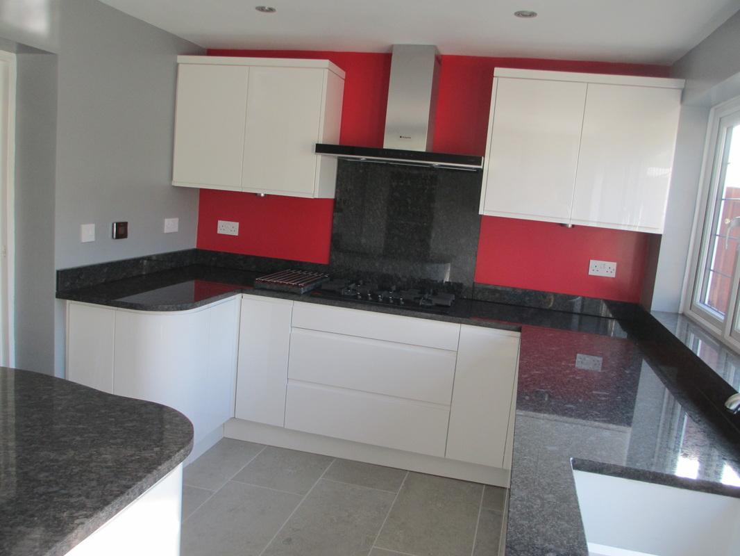 Beautiful Granite Worktops Essex Part - 13: Steel Grey Granite Worktops With Bespoke Island In Hornchurch Essex.